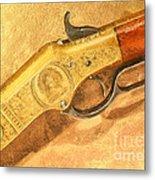 Winchester 1866 Yellow Boy Rifle Metal Print by Odon Czintos