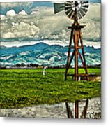 Windmill On The Hills Metal Print by Artist and Photographer Laura Wrede