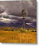 Windmill Metal Print by Robert Bales