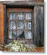 Window At Old Santa Fe Metal Print by Kurt Van Wagner