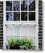 Window In London Metal Print by Elena Elisseeva