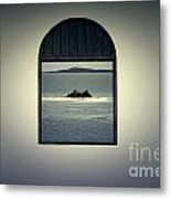 Window View Of Desert Island Puerto Rico Prints Lomography Metal Print by Shawn O'Brien