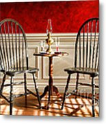 Windsor Chairs Metal Print by Olivier Le Queinec