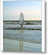 Windsurfing Art Poster - California Collection Metal Print by Ben and Raisa Gertsberg