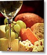 Wine And Cheese Metal Print by Elena Elisseeva