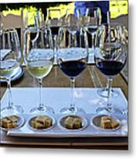 Wine And Cheese Tasting Metal Print by Kurt Van Wagner