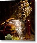 Wine And Romance Metal Print by Tom Mc Nemar