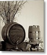 Wine Barrels Metal Print by Alanna DPhoto