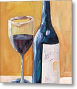 Wine Bottle Still Life Metal Print by Todd Bandy