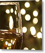 Wine By The Lights Metal Print by Andrew Soundarajan