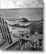 Wine By The Sea Metal Print by Nancy McNamer