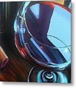 Wine Reflections Metal Print by Donna Tuten