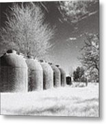 Wine Vats Rutherglen Metal Print by Linda Lees