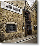 Wine Wharf Metal Print by Heather Applegate