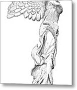 Winged Victory Of Samothrace Metal Print by Steven Tomadakis