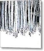 Winter Aspens  Metal Print by Michael Swanson