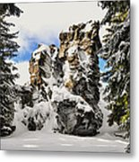 Winter At The Stony Summit Metal Print by Aged Pixel