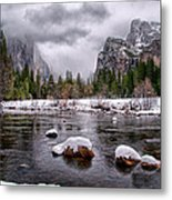 Winter At Valley View Metal Print by Cat Connor