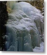 Winter At Zapata Falls Metal Print by Ellen Heaverlo