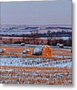 Winter Bales Metal Print by Scott Bean