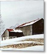 Winter Barn Metal Print by Michael Swanson