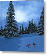 Winter Christmas Card 2012 Metal Print by Cecilia Brendel