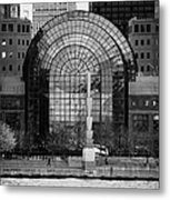 Winter Garden At World Trade Financial Center New York City Metal Print by Joe Fox
