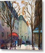 Winter In Paris Metal Print by Lior Ohayon