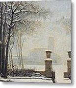 Winter Landscape Metal Print by Alessandro Guardassoni