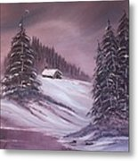 Winter Moon Metal Print by Janice Rae Pariza