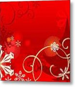 Winter Red Metal Print by Clipartdesign