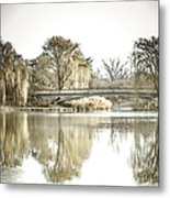 Winter Reflection Landscape Metal Print by Julie Palencia