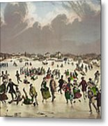Winter Scene Circa 1859 Metal Print by Aged Pixel