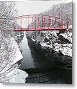 Winter Solitude Square Metal Print by Bill Wakeley