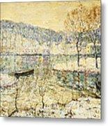 Winter Stream Metal Print by Ernest Lawson