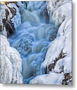 Winter Sunrise Great Falls Metal Print by Bob Orsillo