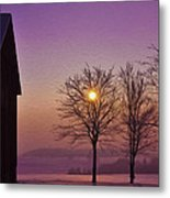 Winter Sunset Metal Print by Aged Pixel
