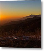 Winter Sunset Metal Print by Heidi Smith