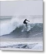 Winter Surfing Metal Print by Tim Grams