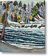 Winter Thaw Gatineau River Metal Print by Patricia Eyre