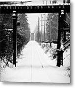 Winter Tracks Metal Print by Aaron Lee VonBerg