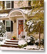 Winter - Westfield Nj - It's Too Early For Winter Metal Print by Mike Savad