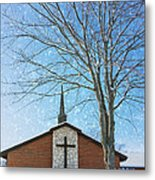 Winter Worship Metal Print by Bill Tiepelman