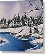 Winter's Blanket Metal Print by Sharon Duguay