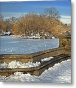 Wintery Afternoon At Bathsheba Terrace Metal Print by Muriel Levison Goodwin