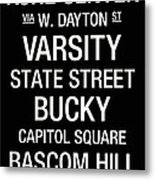 Wisconsin College Town Wall Art Metal Print by Replay Photos