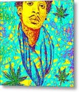 Wiz Khalifa Drawing In Line Metal Print by Kenal Louis