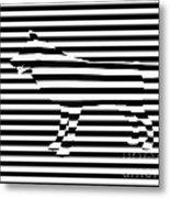 Wolf Optical Illusion Metal Print by Pixel  Chimp
