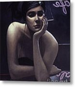 Woman Left Lonely Metal Print by Jane Whiting Chrzanoska
