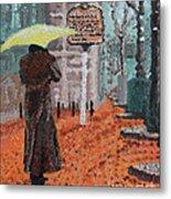 Woman With Umbrella Metal Print by Robert Yaeger